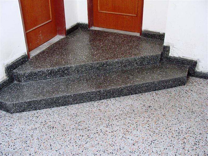 gegossene terrazzo treppe teraco decor. Black Bedroom Furniture Sets. Home Design Ideas
