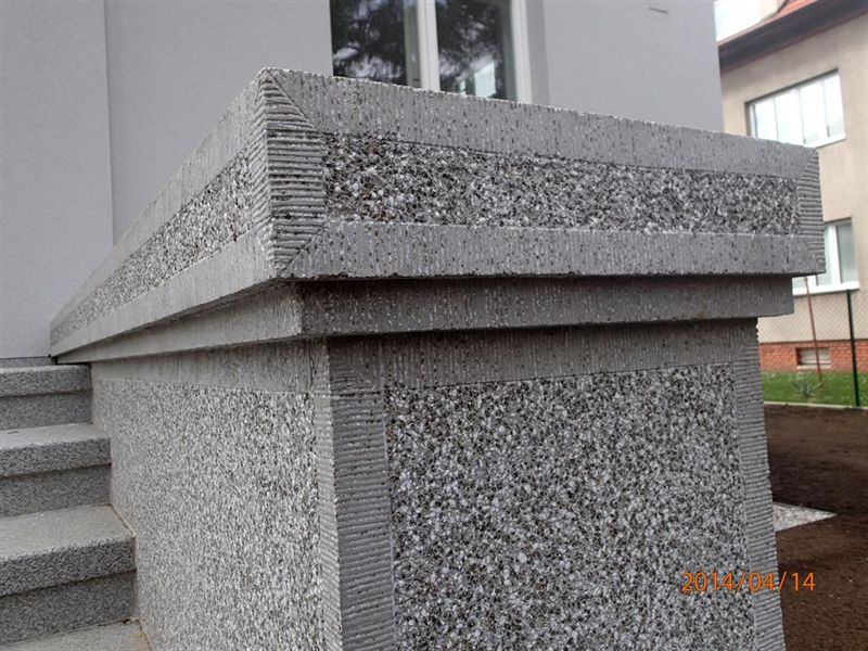 Omítka z umělého kamene